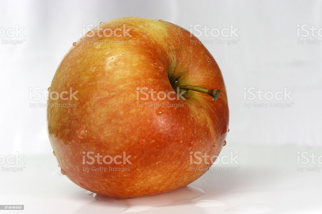 Red apple from side view stock photo