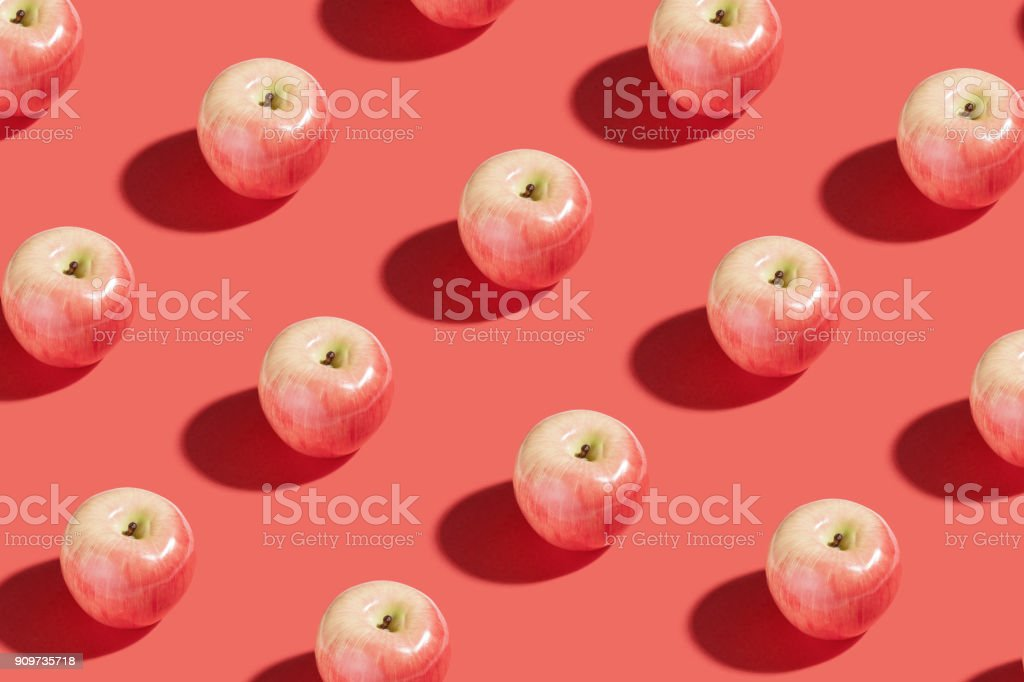 Red apple fruit stock photo