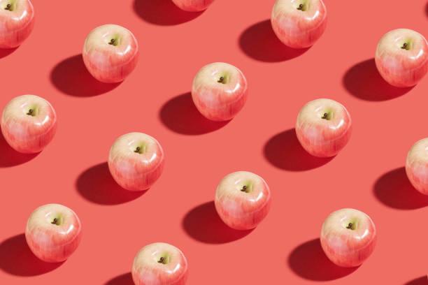 Red apple fruit stock photo