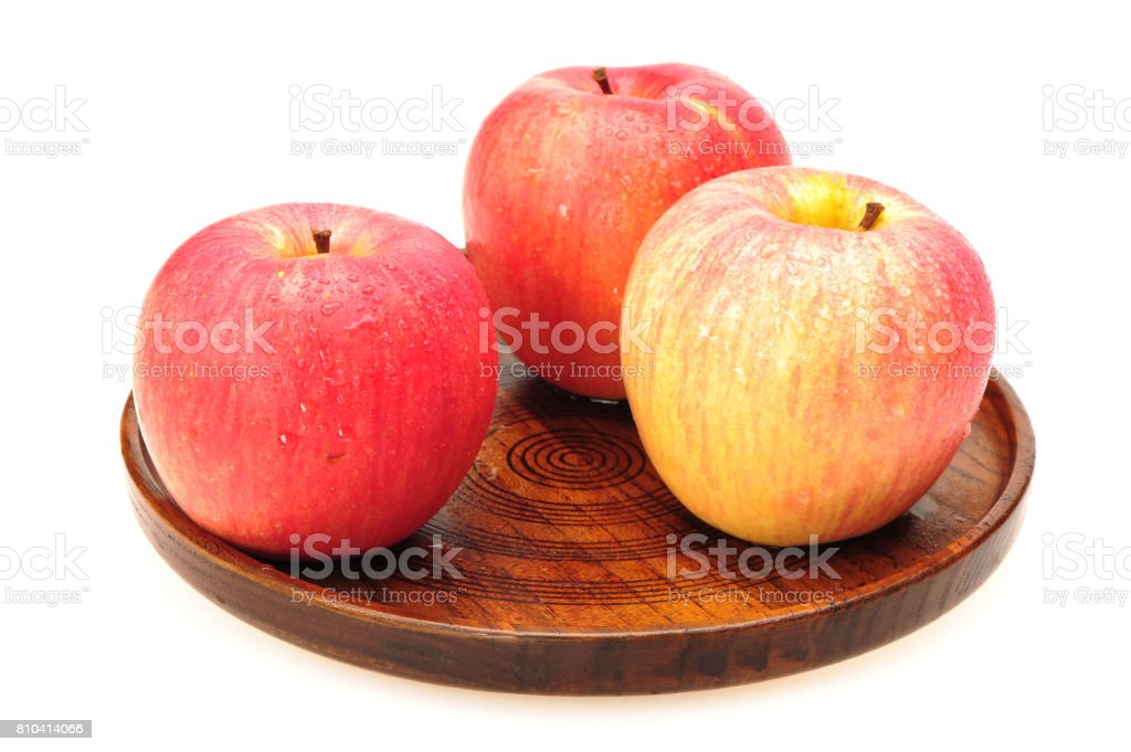 Red apple. Fruit with drops isolated. With clipping path  isolated on white background stock photo