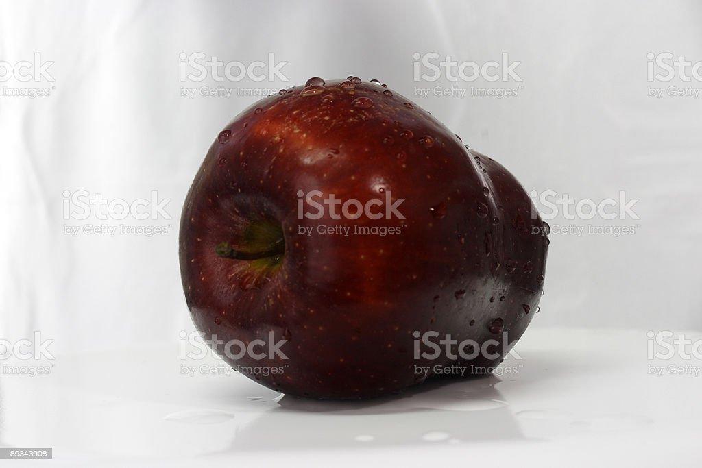 Red apple horizontal view stock photo