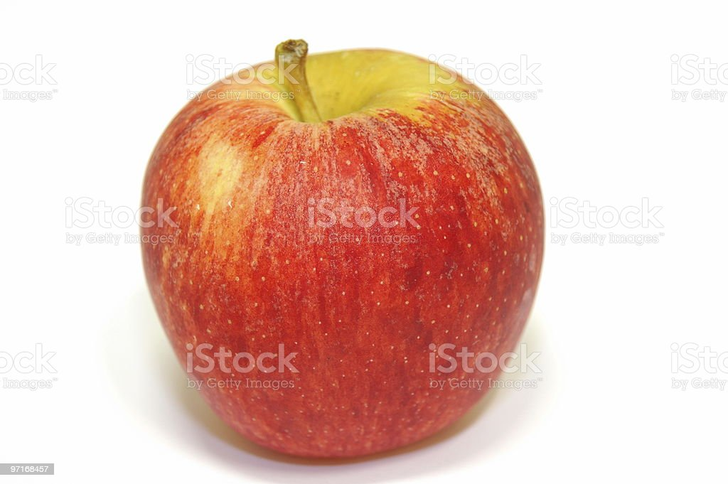 Red apple isolated on a white background royalty-free stock photo