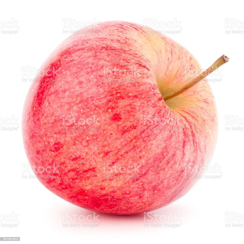 Pomme rouge isolé sur fond blanc découpe photo libre de droits