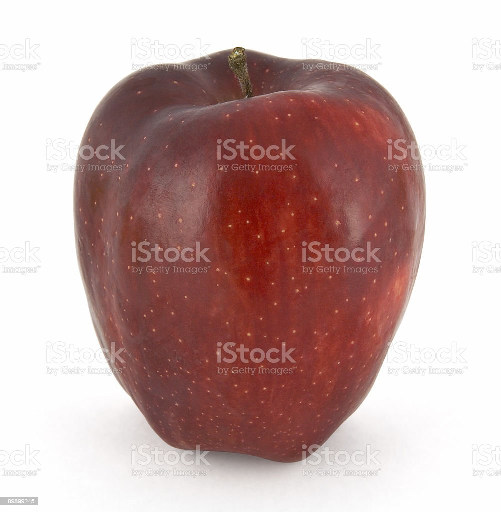 Red apple isolated on white background royalty-free stock photo