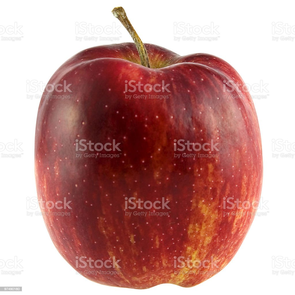 Red apple isolated on white with clipping path royalty-free stock photo