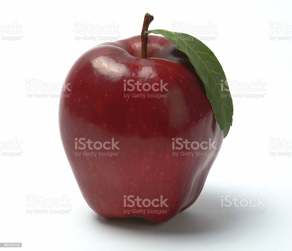Red apple, isolated stock photo