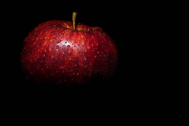 Royalty Free Red Apple Black Background Pictures, Images ...