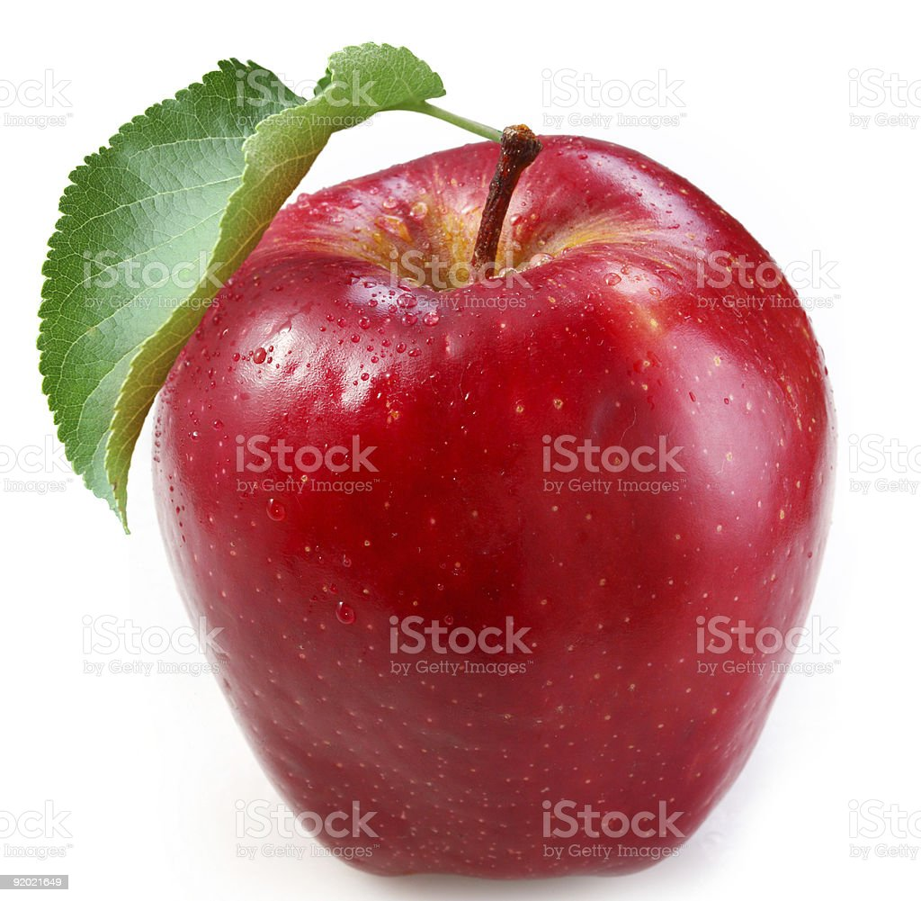 Red apple on a white background royalty-free stock photo