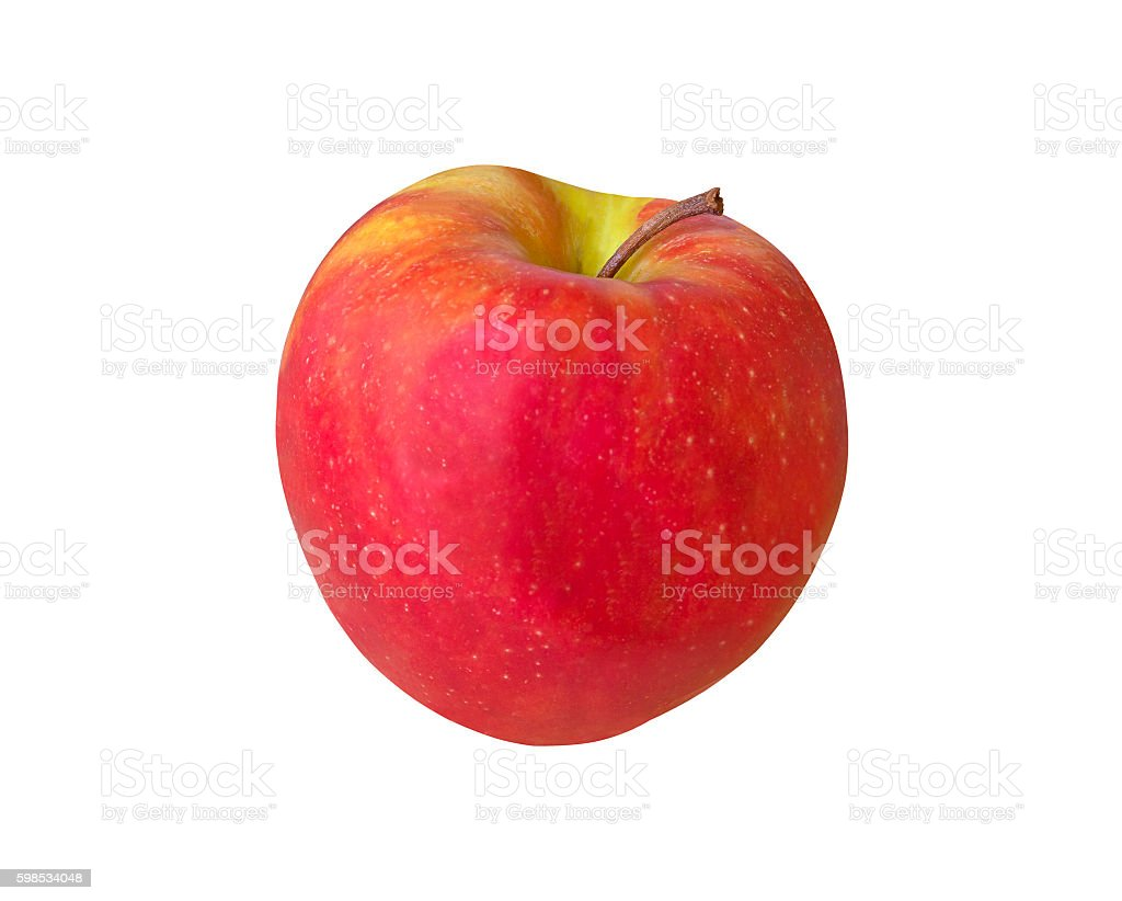 Red apple on isolated background photo libre de droits