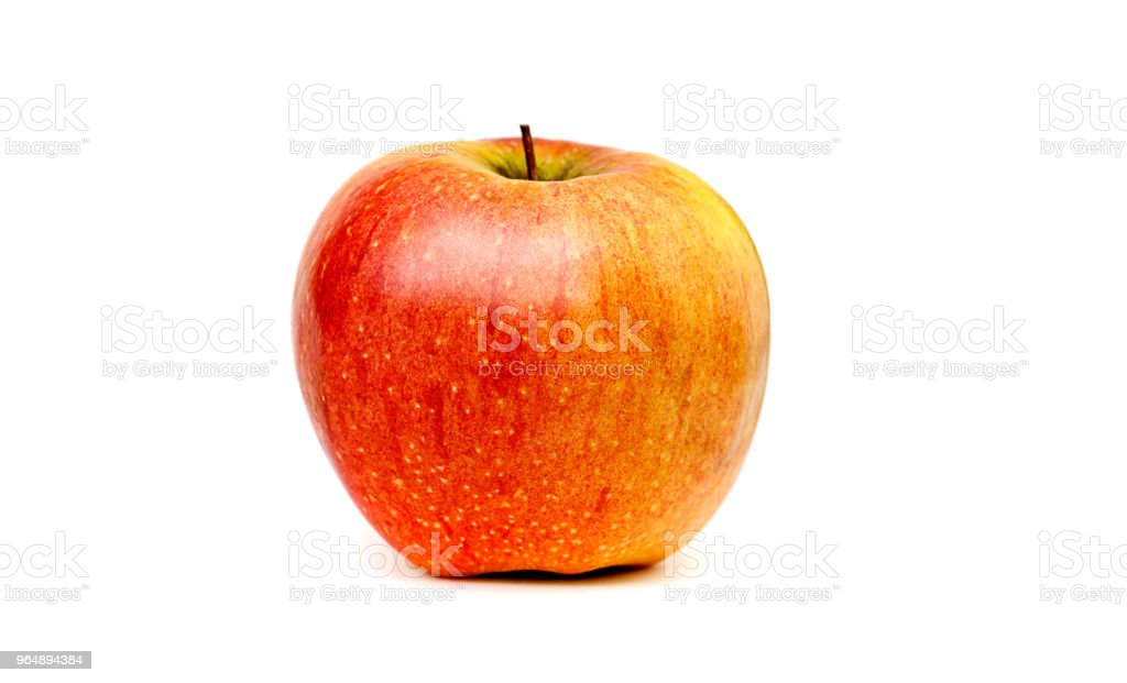 Red apple on white background royalty-free stock photo