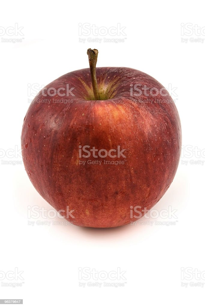 Red Apple on white royalty-free stock photo