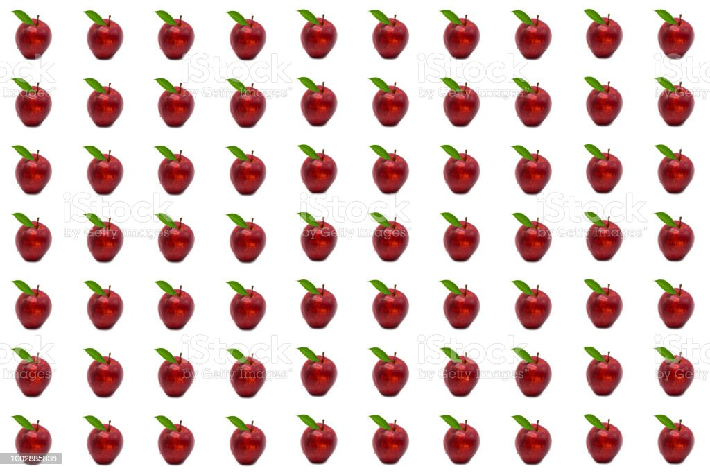 red apple pattern stock photo