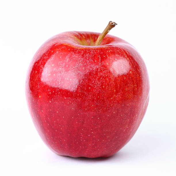"red apple ""Fresh red apple , isolated on white background."" red delicious apple stock pictures, royalty-free photos & images"