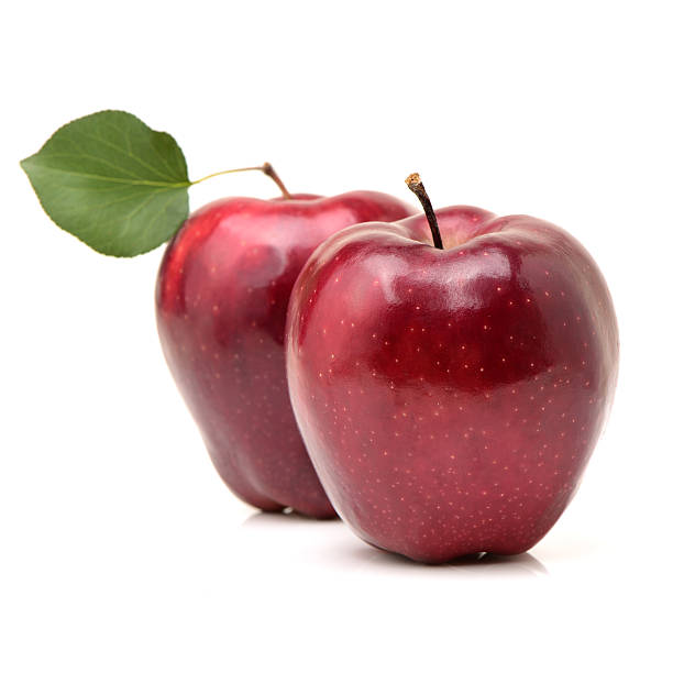 Red apple Red apple on white background red delicious apple stock pictures, royalty-free photos & images