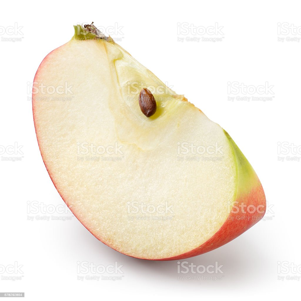 Red apple. Piece isolated on white. With clipping path. ストックフォト