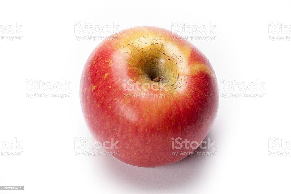 red apple portrait stock photo