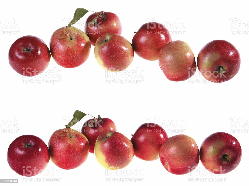Red apple set royalty-free stock photo