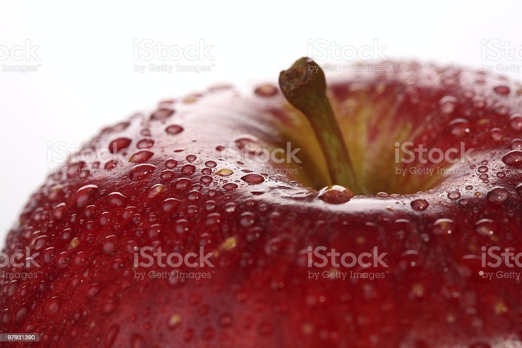 Red Apple Top Close-Up royalty-free stock photo