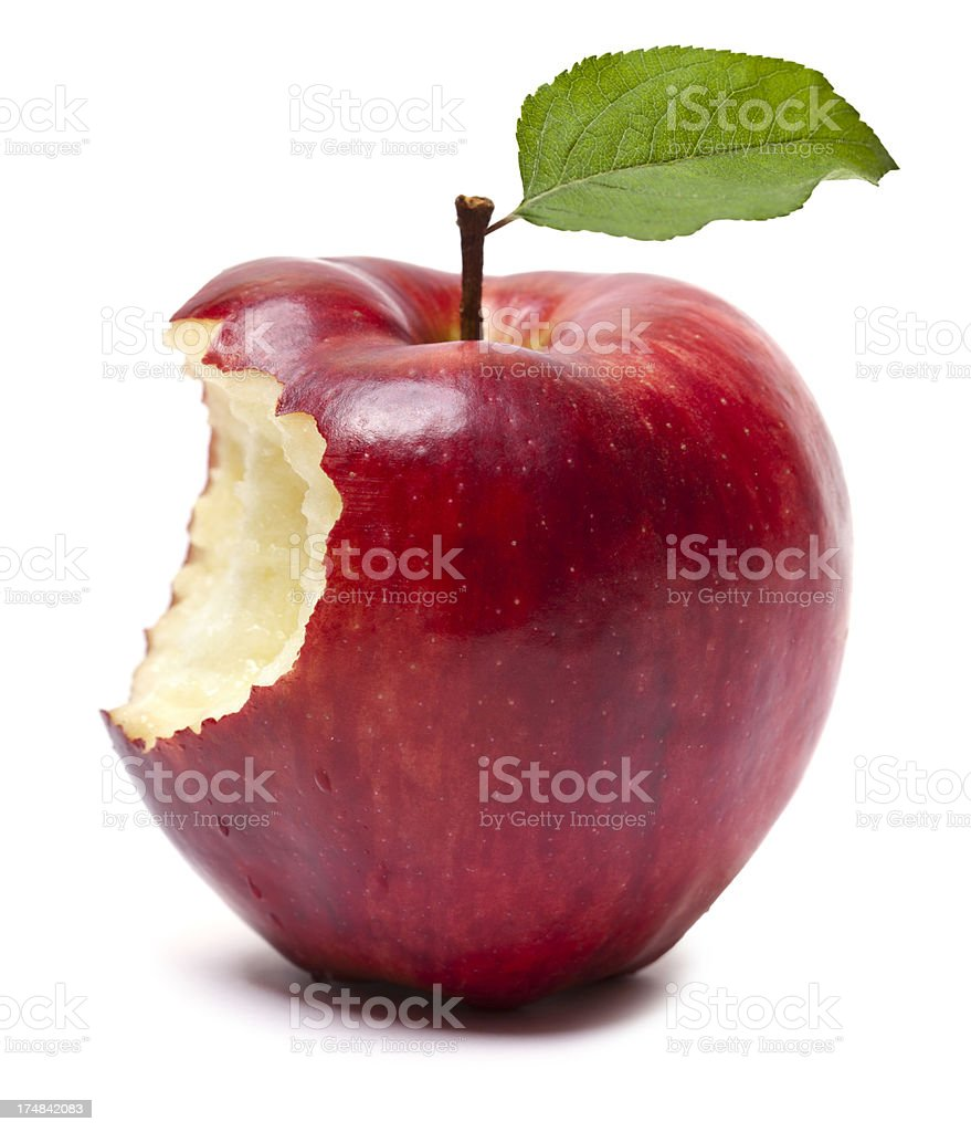 Roter Apfel Mit Biss Stock-Fotografie und mehr Bilder von Abnehmen ...