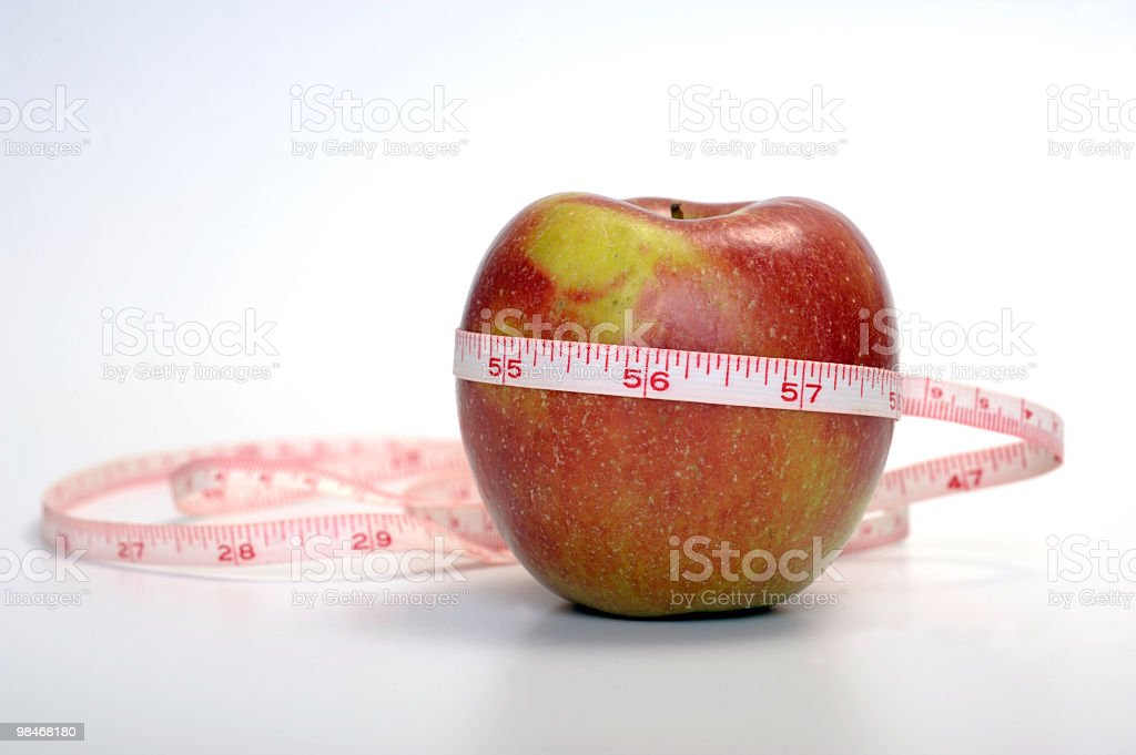Red apple with meter royalty-free stock photo