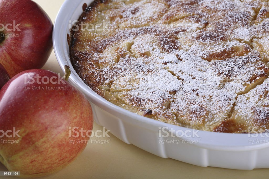 Red Apples and Cake royalty-free stock photo