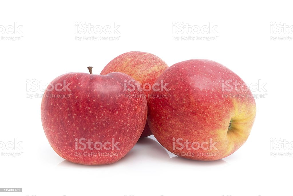 Red apples isolated on a white background royalty-free stock photo