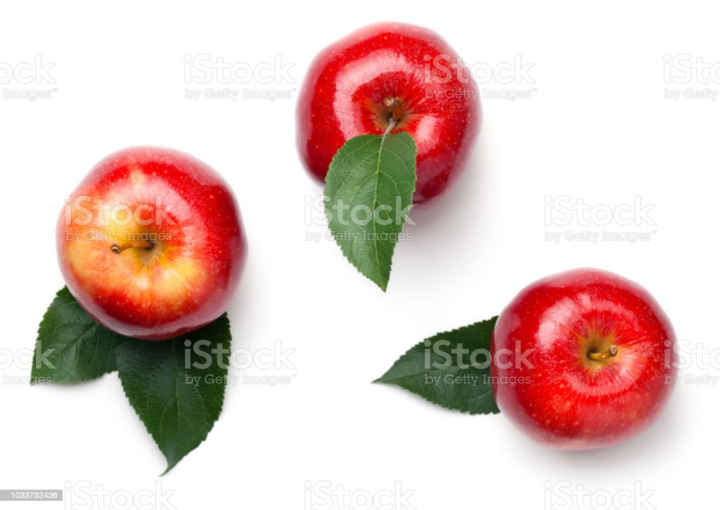 Red Apples Isolated on White Background foto stock royalty-free