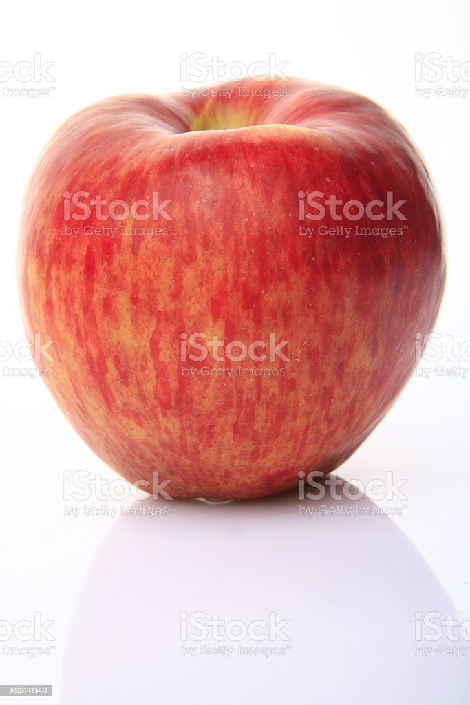 red apples on white background royalty-free stock photo