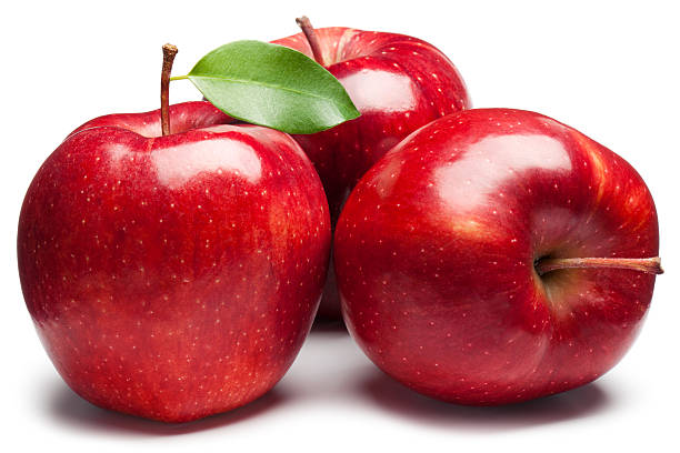 red apples - apple fruit stock photos and pictures