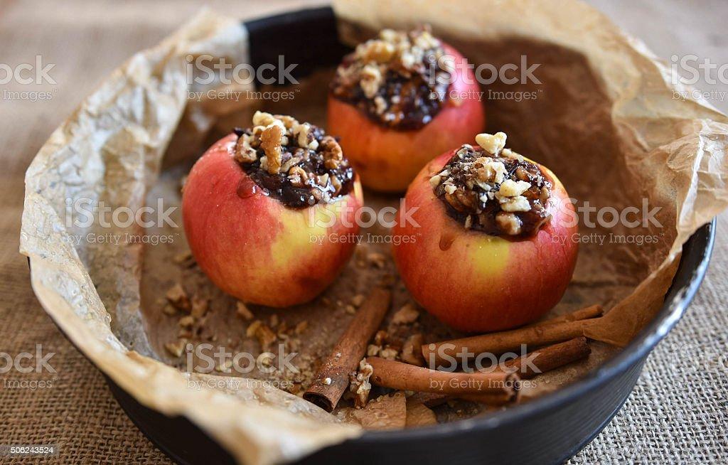 Rote Äpfel für Backen – Foto