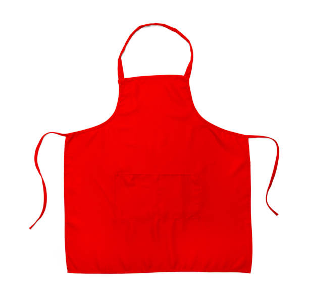 red apron - apron stock pictures, royalty-free photos & images