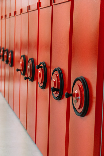 Red archive cabinet