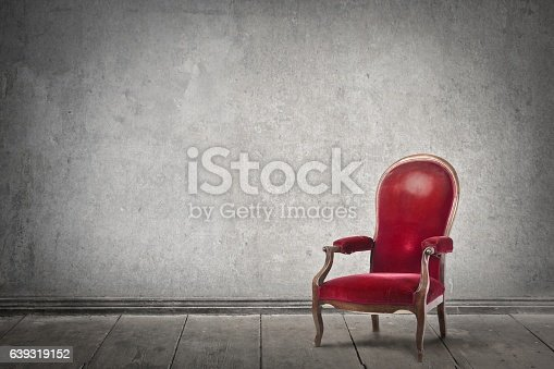 istock Red armchair 639319152