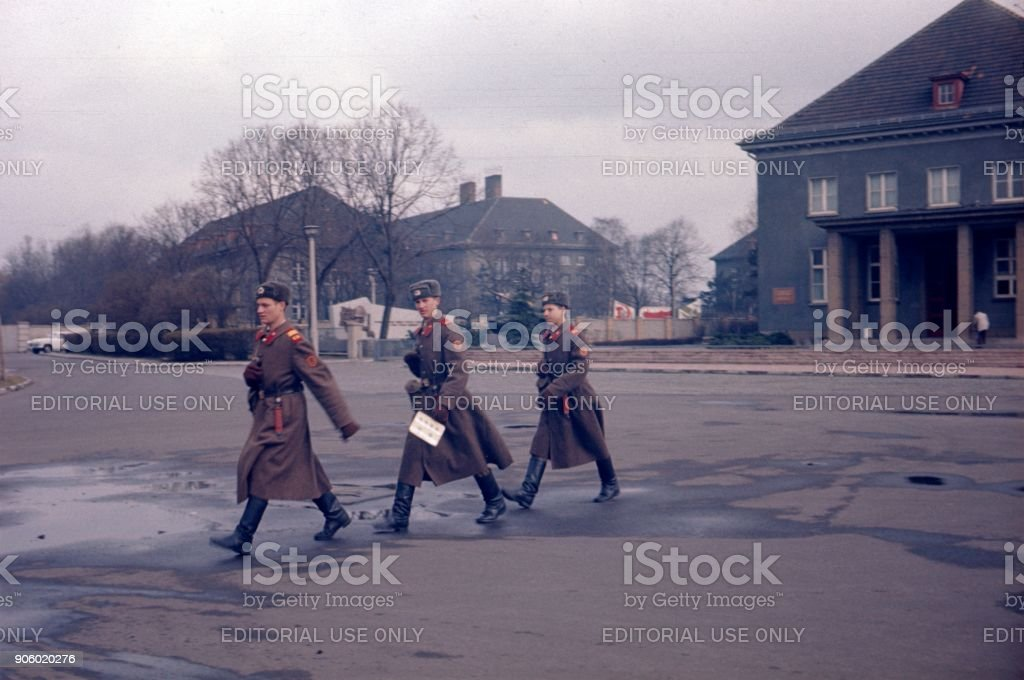 Red Army soldiers, Berlin-Treptow stock photo