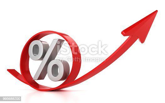 istock Red arrow and percent 995688200
