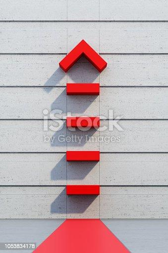 1062884120istockphoto red arrow going upward 1053834178