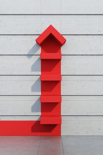 1062884120 istock photo red arrow going upward 931938766