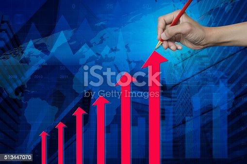 istock Red arrow head, Elements of this image furnished by NASA 513447070