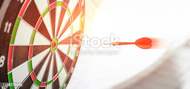 Red Arrow in the center of the target dart.