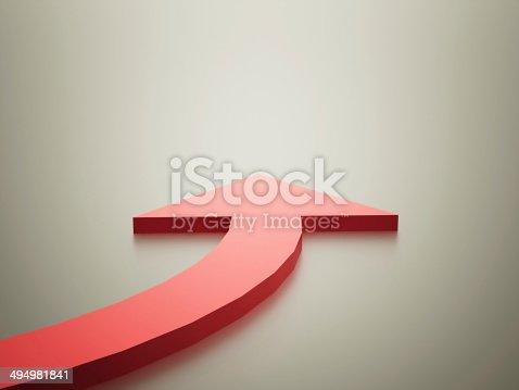 182237699 istock photo Red arrow 494981841