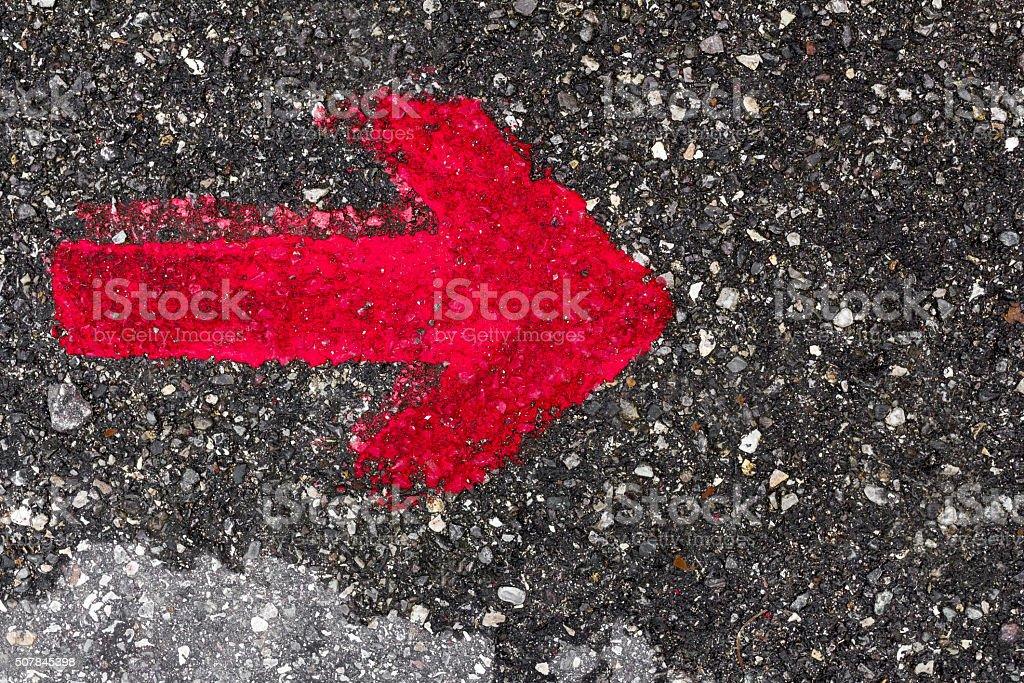 Red arrow stock photo
