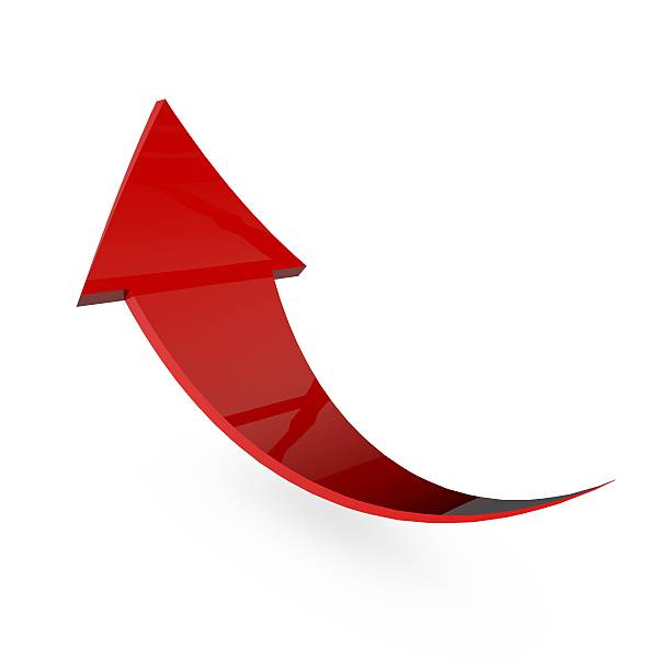 Red arrow stock photo