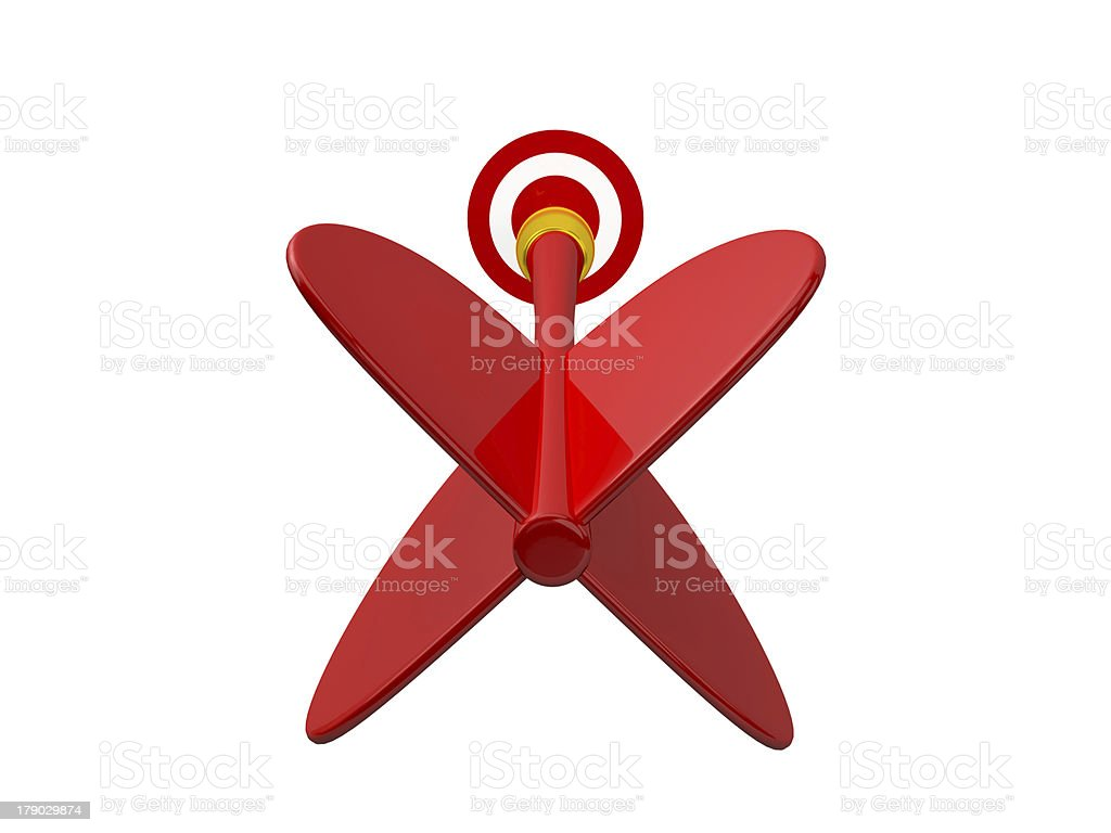 Red Arrow with Target royalty-free stock photo