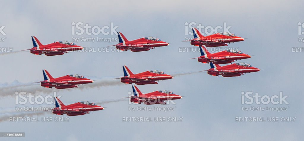 Red Arrows royalty-free stock photo
