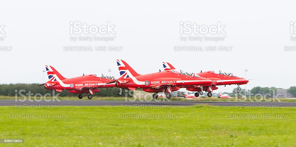 RAF Red Arrows stock photo