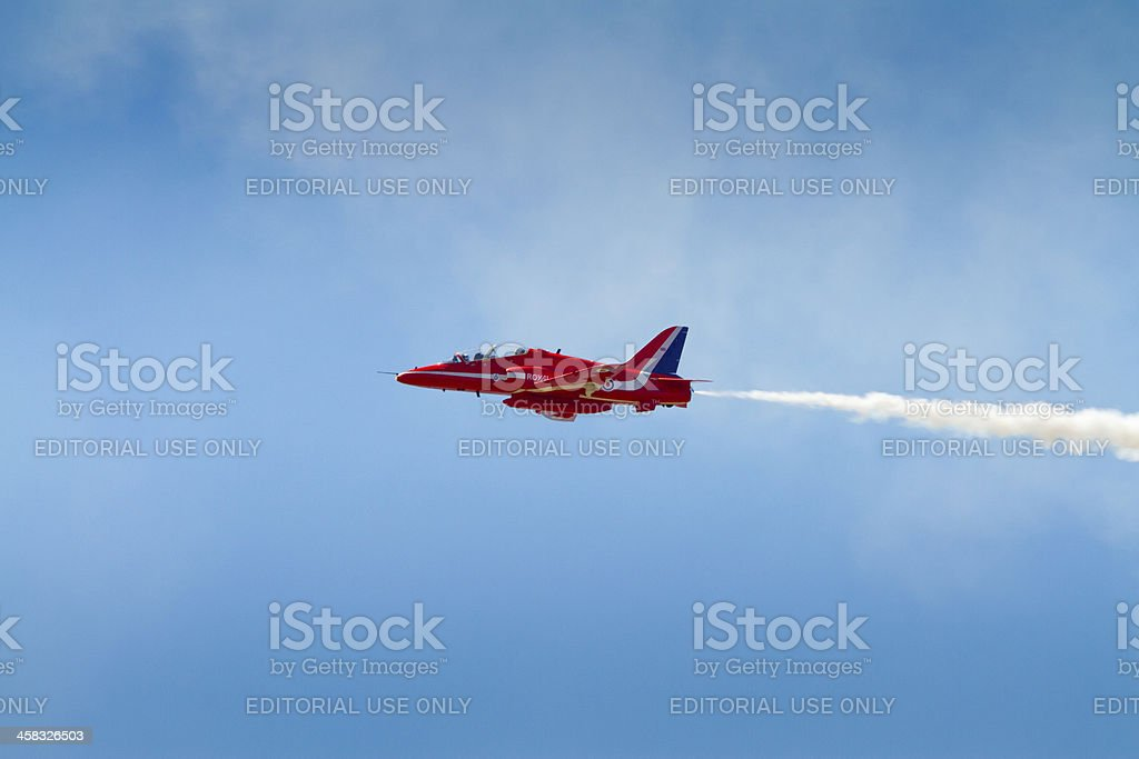 Red Arrows plane royalty-free stock photo