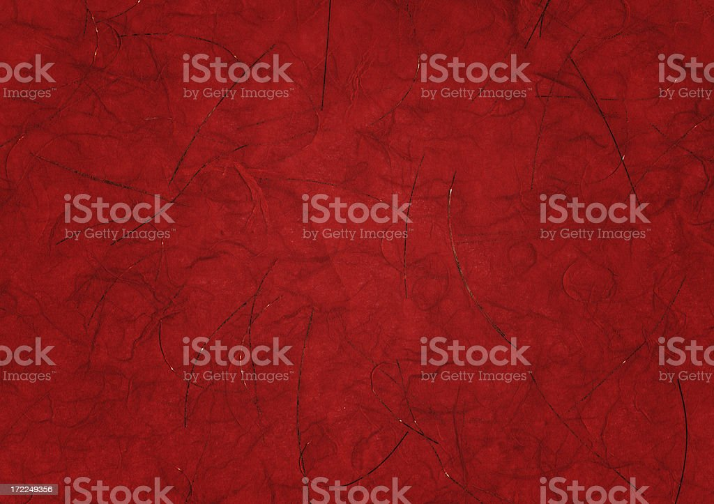 red art paper with twigs royalty-free stock photo