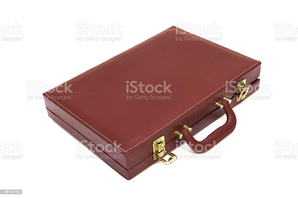 Rosso caso di attache foto stock royalty-free
