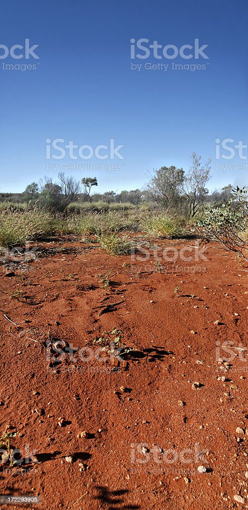Red Australian land royalty-free stock photo