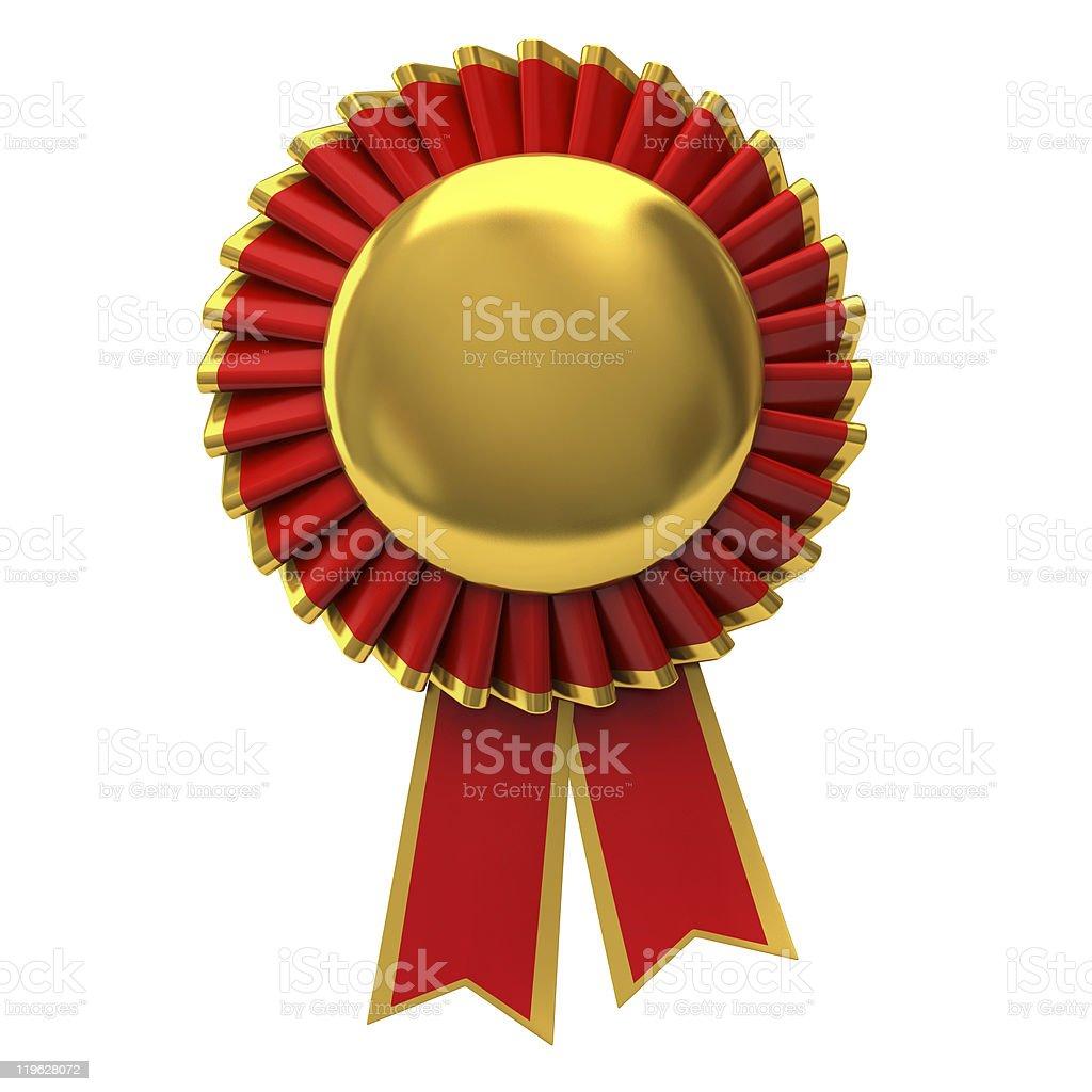 Red Award ribbon rosette royalty-free stock photo